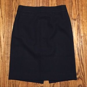 Navy Seasonless Wool J Crew Career Pencil Skirt 4